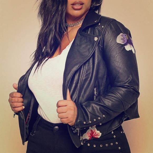 Mens dark purple leather jacket